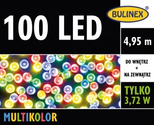 Lampki 100 LED 4,95m multikolor