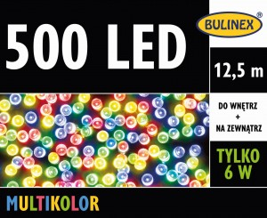 Lampki 500 LED 12,5m multikolor